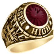101 Guy's Personalized Oval Class Ring