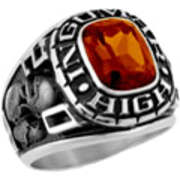 102 Guy's Classic Square Class Ring