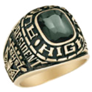 103 Guy's Personalized Square Class Ring