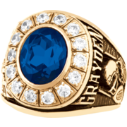 109 Guys' Oval Personalized Premiere Class Ring