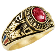 110 Girls Classic Oval Class Ring