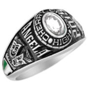 111 Girls Personalized Oval Class Ring