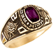 112 Girl's Classic Square Class Ring