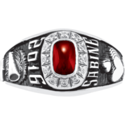 114 Girls' Square Personalized Premiere Class Ring