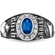 119 Girls' Oval Personalized Premiere Class Ring