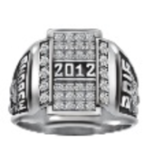 152 Keystone Guys Crest CZ Pave Top Class Ring