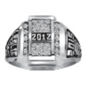 162 Keystone Girls Crest CZ Pave Top Class Ring
