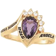 180 Girl's Princess Fashion Class Ring