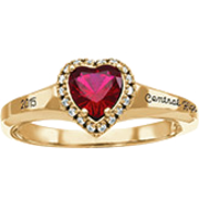 185 Girl's Heart Fashion Class Ring