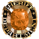 273 / 283 Men's Military / Service Ring: Sheriff