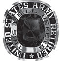 270 / 280 Women's Military Ring: Army Retired