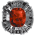 270 / 280 Women's Military Ring: Coast Guard Retired