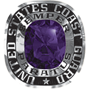 270 / 280 Women's Military Ring: Coast Guard