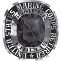 270 / 280 Women's Military Ring: Marine Corps Retired