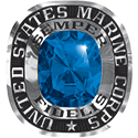 270 / 280 Women's Military Ring: Marine Corps