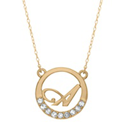 5155 / 5165 Keepsake Personalized Circle Initial Pendant