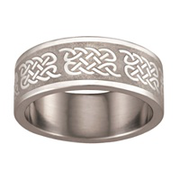 5157 Keepsake Personalized Mens Celtic Stainless Steel Ring