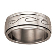 5158 Keepsake Personalized Mens Dante Spinner Ring