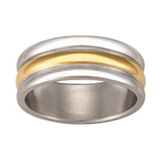 5167 Keepsake Personalized Mens Crete Stainless Steel Ring