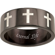 5168 Keepsake Personalized Mens Belief Stainless Steel Ring