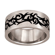 5169 Keepsake Personalized Mens Ares Stainless Steel Ring