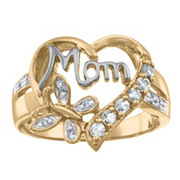5170 / 5180 Personalized Keepsake Moms Blessing Birthstone Ring
