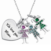 5224 / 5234 Personalized Keepsake Birthstone Kids 3 Kids
