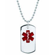 5238 Personalized Keepsake Mens Medical ID Pendant