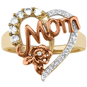 5244 / 5254 Keepsake Personalized Moms Blossom Birthstone Ring