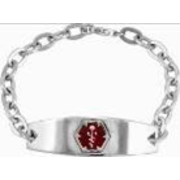 5250 Personalized Keepsake Womens Medical ID Bracelet
