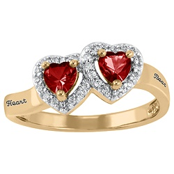 5268 / 5278 Personalized Keepsake Heartbeat Ring
