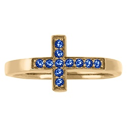 5284 / 5294 Personalized Keepsake Sideways Cross Ring