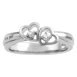 5285 / 5295 Personalized Keepsake Fascination Ring