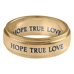 5287 Personalized Keepsake Commitment Band (His) Ring