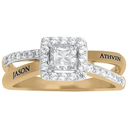 5298 Personalized Keepsake Romantic Ring with Created White Sapphire