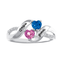 5307 / 5317 Personalized Keepsake Charmed Ring