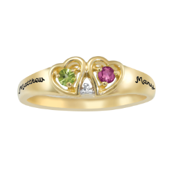 5321 / 5331 Personalized Keepsake Connected Ring