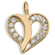 646 / 656  Flowing Heart Birthstone Pendant