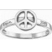 233 Peace Sign Stacking Ring
