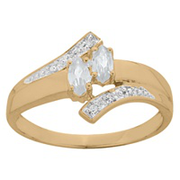 982 / 992 Delight Marquise Promise Ring with Birthstones